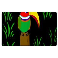 Toucan Apple Ipad 2 Flip Case by Valentinaart