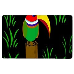 Toucan Apple Ipad 3/4 Flip Case by Valentinaart