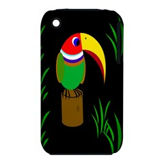 Toucan Apple Iphone 3g/3gs Hardshell Case (pc+silicone) by Valentinaart