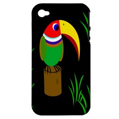 Toucan Apple Iphone 4/4s Hardshell Case (pc+silicone) by Valentinaart