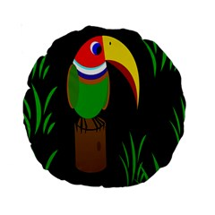Toucan Standard 15  Premium Round Cushions by Valentinaart