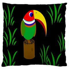 Toucan Large Flano Cushion Case (one Side) by Valentinaart