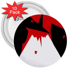 Volcano  3  Buttons (10 Pack)  by Valentinaart