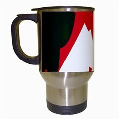 Volcano  Travel Mugs (white) by Valentinaart