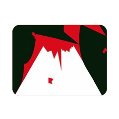 Volcano  Double Sided Flano Blanket (mini)  by Valentinaart