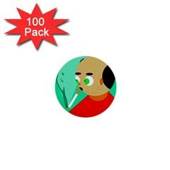 Smoker  1  Mini Buttons (100 Pack)  by Valentinaart
