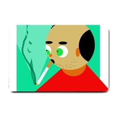 Smoker  Small Doormat  by Valentinaart