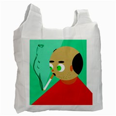 Smoker  Recycle Bag (one Side) by Valentinaart