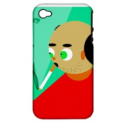 Smoker  Apple Iphone 4/4s Hardshell Case (pc+silicone) by Valentinaart