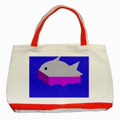 Big Fish Classic Tote Bag (red) by Valentinaart