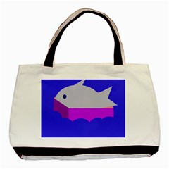 Big Fish Basic Tote Bag (two Sides) by Valentinaart
