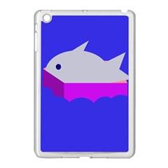 Big Fish Apple Ipad Mini Case (white) by Valentinaart