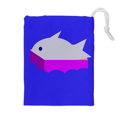 Big Fish Drawstring Pouches (extra Large) by Valentinaart