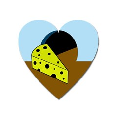 Cheese  Heart Magnet by Valentinaart