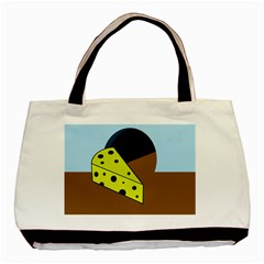Cheese  Basic Tote Bag by Valentinaart