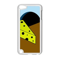 Cheese  Apple Ipod Touch 5 Case (white) by Valentinaart