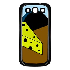 Cheese  Samsung Galaxy S3 Back Case (black) by Valentinaart
