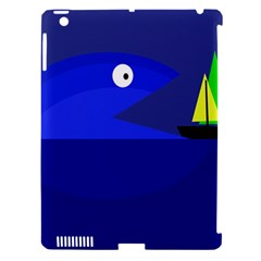 Blue Monster Fish Apple Ipad 3/4 Hardshell Case (compatible With Smart Cover) by Valentinaart