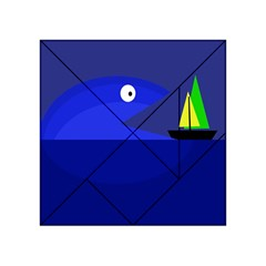 Blue Monster Fish Acrylic Tangram Puzzle (4  X 4 ) by Valentinaart