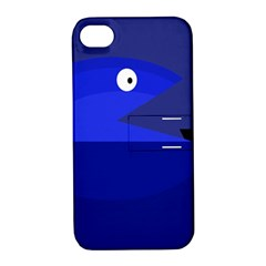 Blue Monster Fish Apple Iphone 4/4s Hardshell Case With Stand by Valentinaart