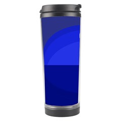 Blue Monster Fish Travel Tumbler by Valentinaart
