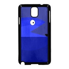 Blue Monster Fish Samsung Galaxy Note 3 Neo Hardshell Case (black) by Valentinaart