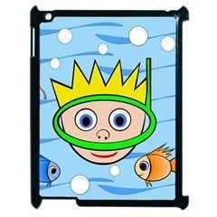 Diver Apple Ipad 2 Case (black) by Valentinaart
