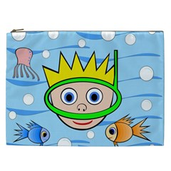 Diver Cosmetic Bag (xxl)  by Valentinaart