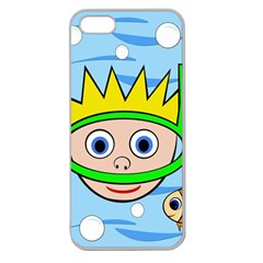 Diver Apple Seamless Iphone 5 Case (clear) by Valentinaart
