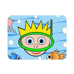 Diver Double Sided Flano Blanket (mini)