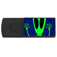 Alien  Usb Flash Drive Rectangular (4 Gb)  by Valentinaart