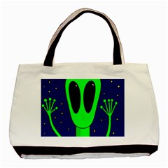 Alien  Basic Tote Bag (two Sides) by Valentinaart