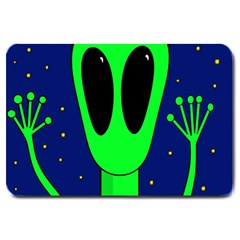 Alien  Large Doormat  by Valentinaart