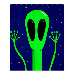 Alien  Shower Curtain 60  X 72  (medium)  by Valentinaart