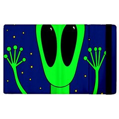 Alien  Apple Ipad 2 Flip Case by Valentinaart