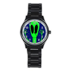 Alien  Stainless Steel Round Watch by Valentinaart