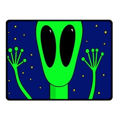 Alien  Double Sided Fleece Blanket (small)  by Valentinaart