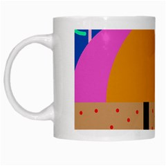On The Beach  White Mugs by Valentinaart