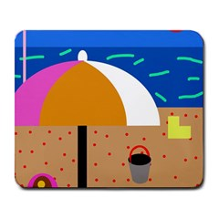 On The Beach  Large Mousepads by Valentinaart