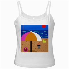 On The Beach  Ladies Camisoles by Valentinaart