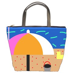 On The Beach  Bucket Bags by Valentinaart