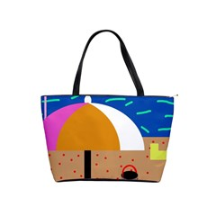 On The Beach  Shoulder Handbags by Valentinaart