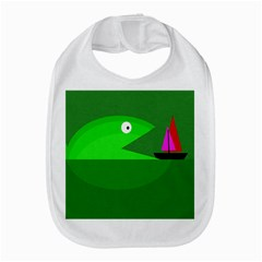 Green Monster Fish Bib by Valentinaart