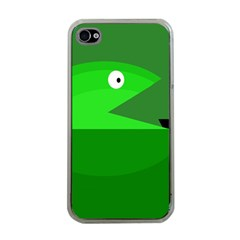 Green Monster Fish Apple Iphone 4 Case (clear) by Valentinaart