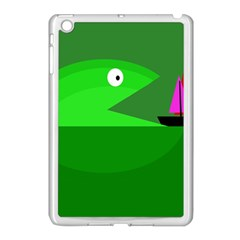 Green Monster Fish Apple Ipad Mini Case (white) by Valentinaart