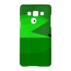 Green Monster Fish Samsung Galaxy A5 Hardshell Case  by Valentinaart