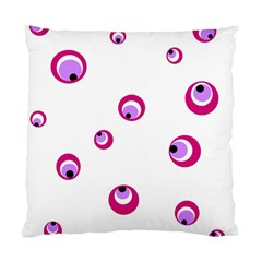 Purple eyes Standard Cushion Case (Two Sides) by Valentinaart