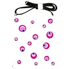 Purple Eyes Shoulder Sling Bags by Valentinaart