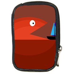 Red Monster Fish Compact Camera Cases by Valentinaart