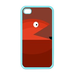 Red Monster Fish Apple Iphone 4 Case (color) by Valentinaart